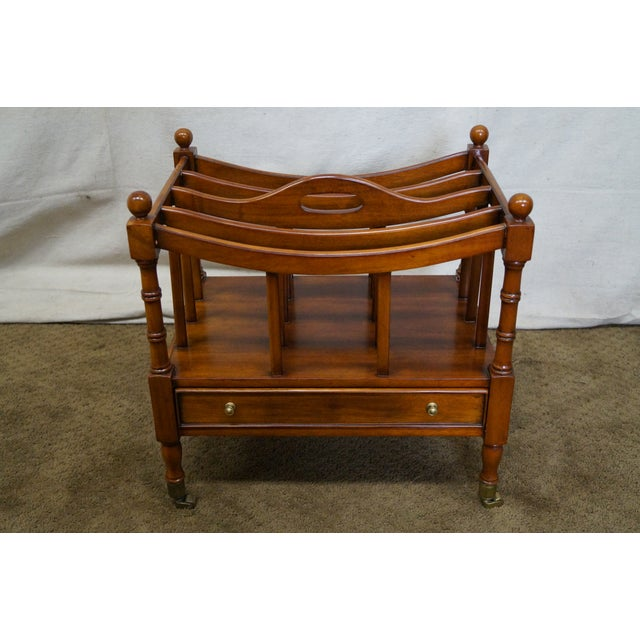 Maitland Smith Mahogany Magazine Stand - Image 4 of 10