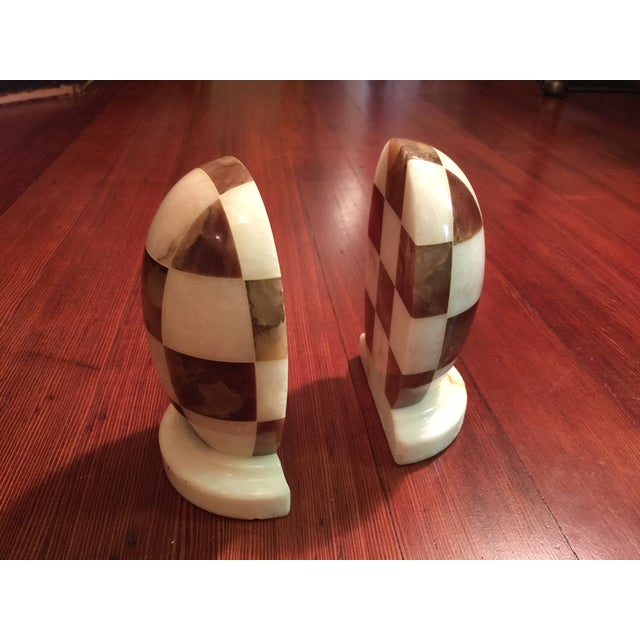 Hand-Carved Italian Alabaster Book Ends - Image 7 of 7