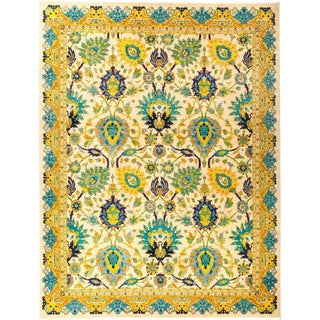 """Eclectic Hand Knotted Area Rug - 8' 10"""" X 11' 8"""""""