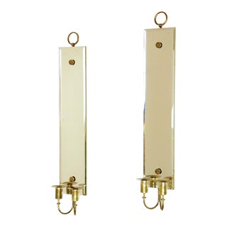 Tommi Parzinger Mirrored Candle Sconces