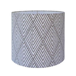 Tahitian Stitch Brown Drum Lamp Shade
