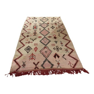 "Brand New Moroccan Raised Flat Weave 4'2""x6'10"""