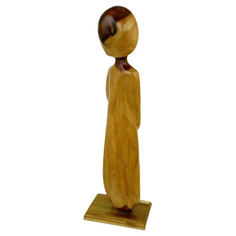 Seri Iron Wood Sculpture Of Female Abstract By Miguel Estrella - Image 1 of 5