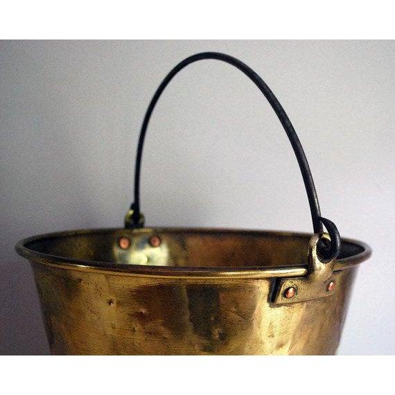 Antique Brass Bucket / Firewood Holder / Cauldron - Image 4 of 6