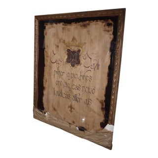 Shadow Box Framed Latin Script