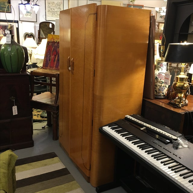 1920's Agran Clothing Armoire by London Furniture - Image 3 of 9