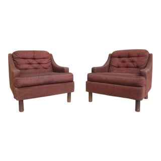 Selig Low Lounge Chairs - A Pair