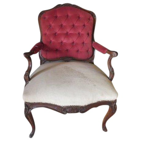 Antique 1900s Louis XV Large Scale Armchair - Image 1 of 9
