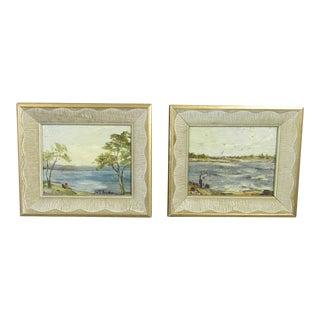 Fisherman Paintings by Anita Pender - A Pair
