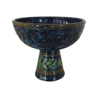 Bitossi Mid-Century Pedestal Bowl