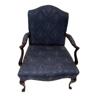 Vintage Armchair With Dark Blue Upholstery