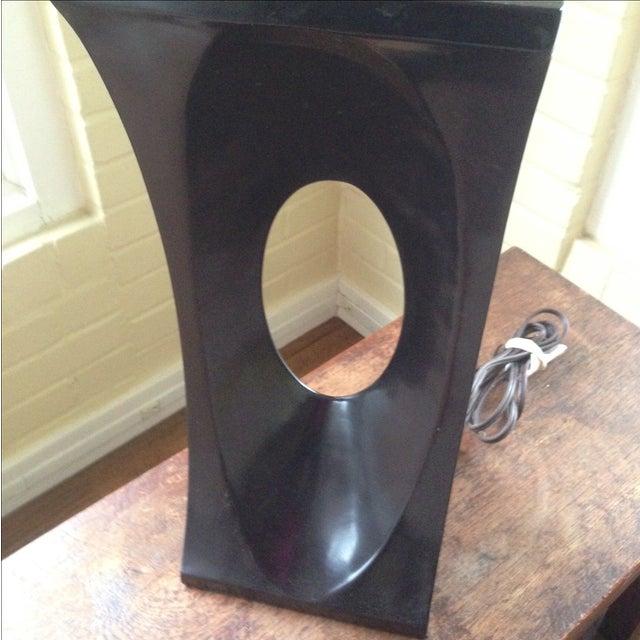 Mid-Century Modern Style Black & Chrome Lamp - Image 9 of 9