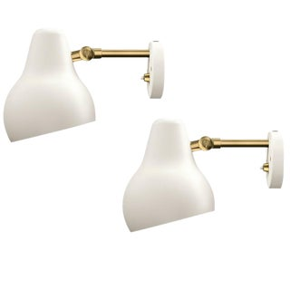 "Vilhelm Lauritzen for Louis Poulsen VL38 ""Radiohus"" Wall Light"