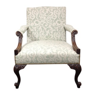 Mahogany Armchair With Nail Heads