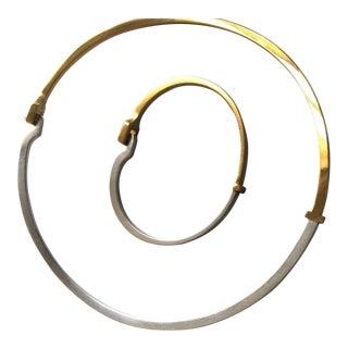 Georg Jensen by Andreas Mikkelsen Silver Gold Vermeil Bracelet Neck Ring