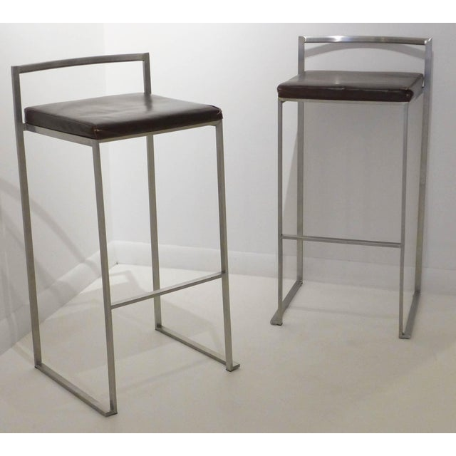 Image of Pair of Bar Stools by Enzo Berti