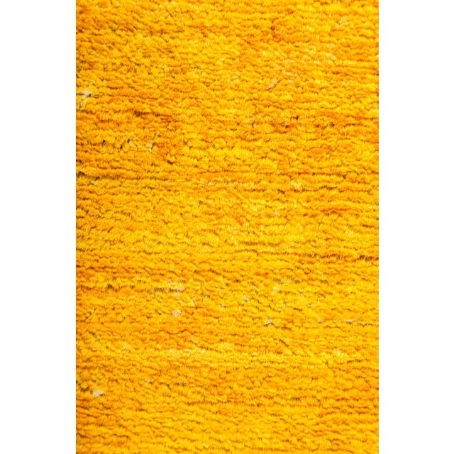 """New Hand-Knotted Overdyed Yellow Rug - 3'1"""" X 5'3"""" - Image 3 of 3"""