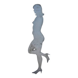 1960s Steel Cut Woman Figurine