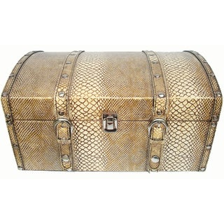 Trunk in Embossed Python Skin