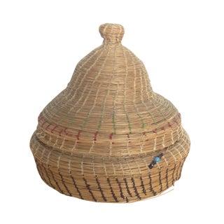 Woven Straw Prayer Basket