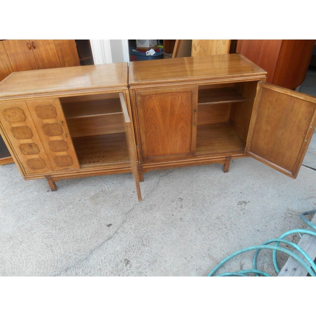MCM Thomasville Floating Dual Credenza - Image 3 of 6