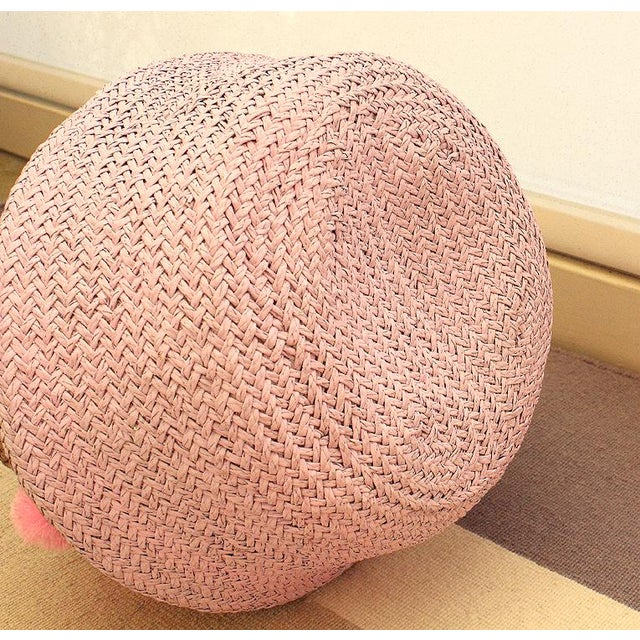 Pink Double Woven Sea Grass Belly Basket - Image 7 of 7