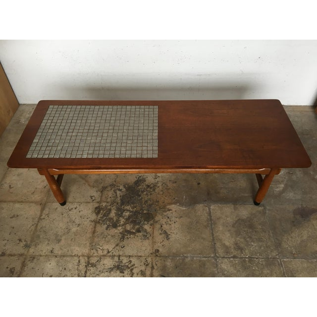 Mid Century Lane Copenhagen Drop Leaf Coffee Table: Vintage Mid Century Modern Lane Mosaic Top Coffee Table