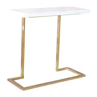 Modern Gilt & Marble Console Table