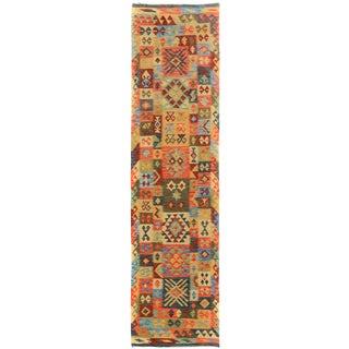 Kilim Arya Tyson Blue & Gold Wool Rug - 2'10 X 9'10
