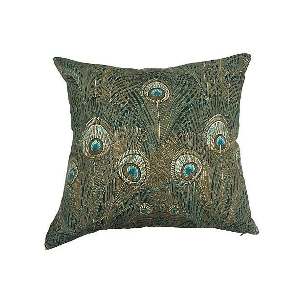 Liberty of London Peacock Pillows - Pair - Image 2 of 6