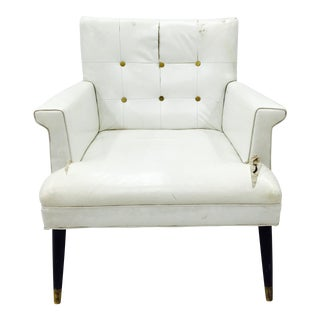 Vintage White Tufted Arm Chair