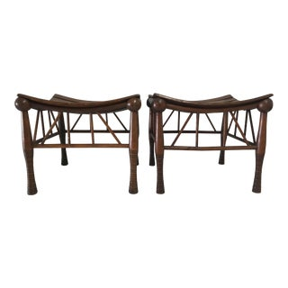 Antique Arts & Craft Thebes Stools S/2