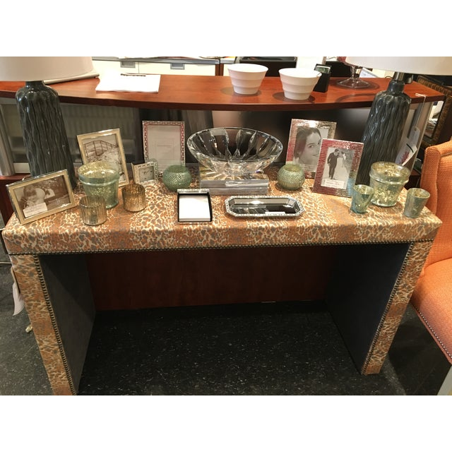 Wesley Hall Fabric Covered Console Table - Image 8 of 8