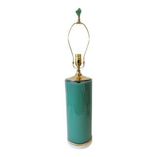 Jade Green Column Glass Table Lamp