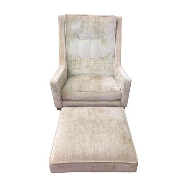 Milo Baughman Club Chairs & Ottoman - A Pair - Image 1 of 8