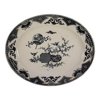 English Aesthetic Movement Transferware Formosa Platter