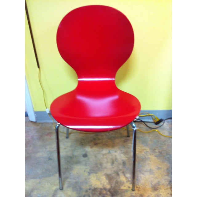 Image of Modern Red Side Chair