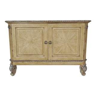 Riviera Hand Carved Venetian Style 2 Door Console Server Media Cabinet