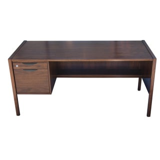 Jens Risom Single Pedestal Desk