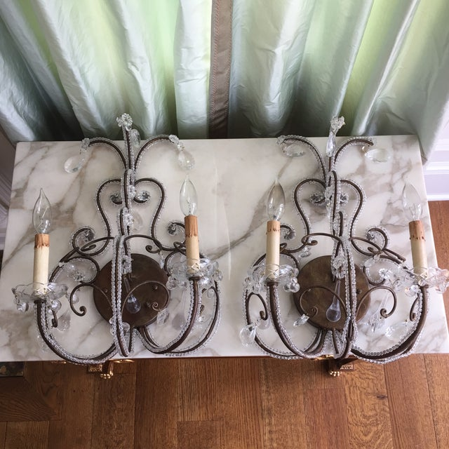 Mid-Century Sconces - A Pair - Image 2 of 4