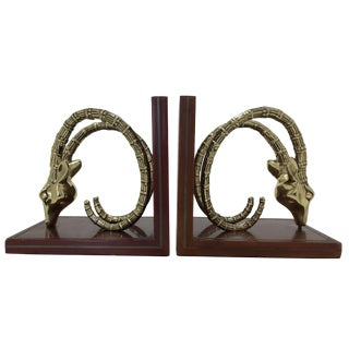 Vintage Ibex Bookends - A Pair