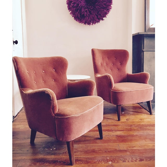 Image of 1958 Vintage Theo Ruth for Artifort Mid Century Danish Modern Lounge Chairs - a Pair