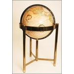 Image of Mid-Century Modern Replogle World Globe W Brass Stand