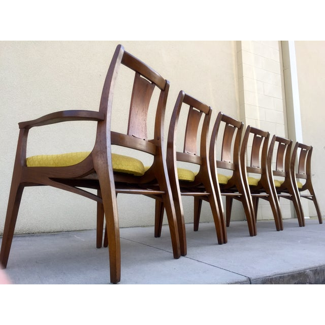 Mid Century Mod Curved Tailback Dining Chairs - 6 - Image 4 of 11
