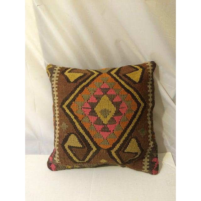 Antique Turkish Kilim Pillows - Pair - Image 4 of 8