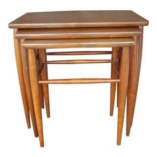 Mersman Mid-Century Teak Nesting Table - Set of 3