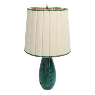 Marcello Fantoni Italian Turquoise Table Lamp