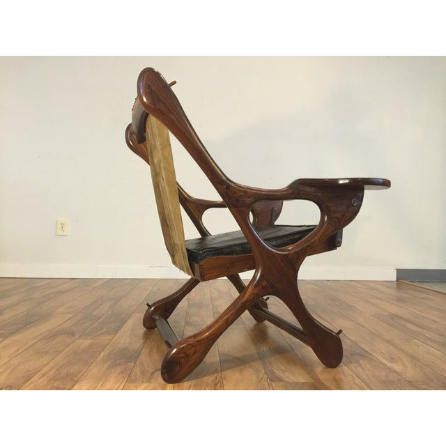 Don Shoemaker Studio Rosewood Swing Chair - Image 7 of 11