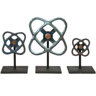 Aluminum Valve Handles on Stands- Set of 3