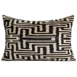 Vintage Tribal Silk Velvet Pillow